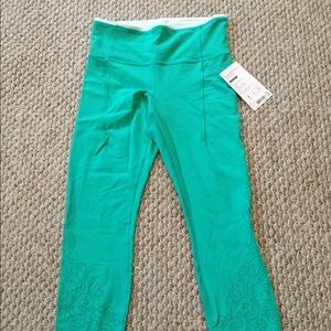 BNWT Athleta Teal Blue Green Leggings Size Small S